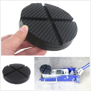 Rubber Car Truck Cross Slotted Frame Rail Floor Jack Disk Pad Adapter Tool