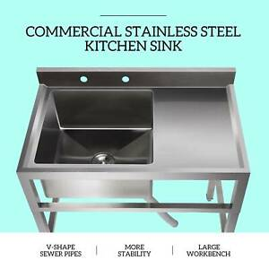 1 Compartment Commercial Restaurant Prep Sink Kitchen Sink w Drain Board $253.59
