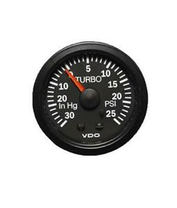 Vdo Vision Mechanical Turbo Gauge 2 1 16 Dia Black Face 150121