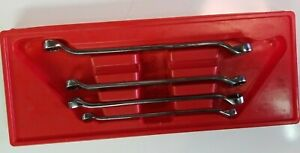 Snap On Tools Usa 4pc Metric Standard 10 Offset Wrench Set Xbm605 10mm 19mm