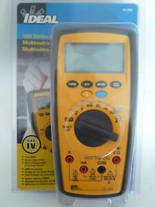 new Ideal 61 484 Digital Multimeter Tester 480 Series