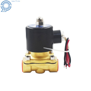 Nc Electric Solenoid Valve 12v Dc 1 2 Npt Brass Water Air Gas Viton