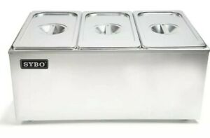 Sybo Zck165a 3 Commercial Grade Stainless Steel Buffet Food Warmer New In Box