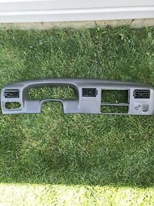 99 04 Ford Excursion F 250 350 450 550 Super Duty Dash Cluster Bezel Trim Gray