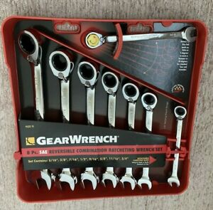 Gearwrench 9533 8 piece Sae Reversible Combination Ratcheting Wrench Set
