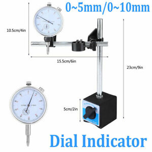 0 1 Inch Dial Test Indicator 0 01mm Accuracy Instrument 0 10mm W Magnetic Base