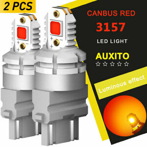 Auxito 3157 3057 Led Red Turn Signals Brake Tail Lights For Ram 1500 2500 Canbus