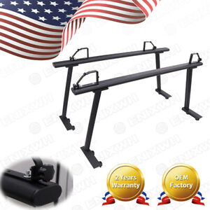 Universal Pickup Truck Bed Ladder Racks W Ladder Lock Adjustable Truck Black