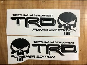 Trd Punisher Edition Pair Black Decals Toyota Tacoma Tundra Truck Vinyl Decal