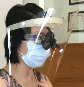 Dental Face Shields For Dentists Hygienists With Loupes And Lights