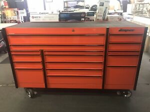 Snap on Krl1163pkh 3 Bank Roll Cab Rolling Tool Box 16 drawers With Upgrades