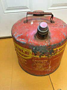 Bs8 Vintage Eagle 5 Gallon 26 Gauge Galvanized Gas Gasoline Can Model 505 Usa