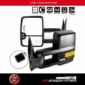 Towing Mirrors Power Heated Running Light Signalspair For 99 02 Silverado Sierra