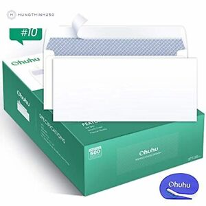 Self Sealing Letter Envelopes 500 10 Security Business Peel Strip White Mail
