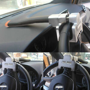 Foldable Car Top Mount Steering Wheel Anti Theft Security Lock Devices With Keys