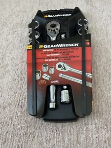 Gearwrench 8801a 3 8 Drive 20 Piece Ratchet Socket Tool Set Sae Metric 12 Pt