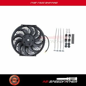 12 Inch Electric Universal Slim Cooling Fan Engine Pull Push Radiator 1400cfm