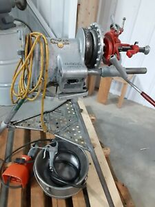 Ridgid 300 t2 Threading Machine With Attachments Oiler System Can