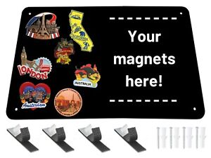 Black Metal Magnet Board 17 5 X 11 5 X 1 32 Magnetic Wall Sheet For Magnets