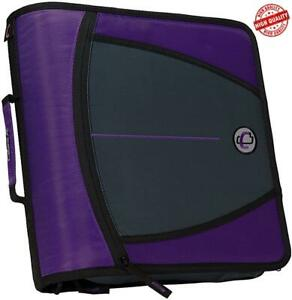 Case it Mighty Zip Tab 3 inch Zipper Binder Purple D 146 pur C3a5ae