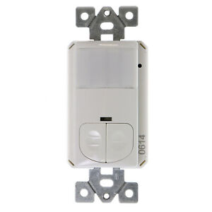 Tork Nsi Wos mn2r Wall Switch Occupancy Sensor Pir 2 relay 120 277v White