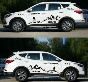 Graphics Mountain Car Sticker Decal Fit For Hyundai Santa Fe Cross Country 2 Pcs