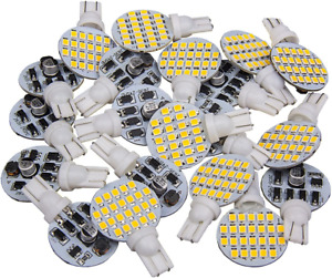 20 X Super Bright 921 194 T10 Warm White 4 8w Boat Iandscaping Rv Trailer