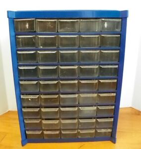 Vintage 45 Drawer Metal Nut bolt Small Parts Storage Cabinet Clean Guc