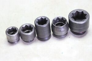 3 4 1 Inch Drive 8 Point Impact Socket Lot Of 5 1 1 16 To 1 5 8 Usa
