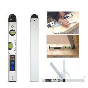 0 225 Lcd Digital Electronic Angle Finder Goniometer Protractor Measuring Ruler