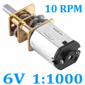 Dc 6v 10rpm High Torque Low Speed Electric Gear Motor Ratio 1 1000 12mm 0 47 New