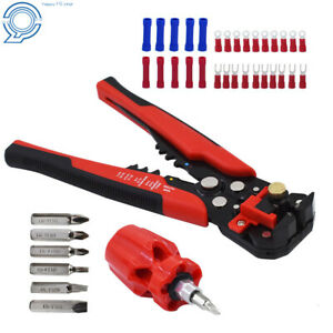 8 Self adjusting Insulation Wire Stripping Tool With With Mini Screwdriver Set