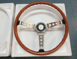 1967 Shelby Gt500 New Reproduction Real Wood Steering Wheel Assembly 2nd