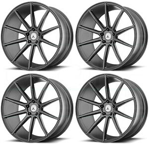 22x9 22x10 5 Asanti Black Abl 20 Aries 5x120 32 35 Matte Graphite Wheels Set 4