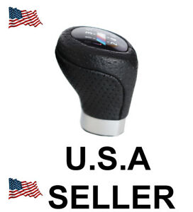 E46 E90 E92 Manual Gear Shift Knob 6 Speed P U Leather For All Bmw E46 E92 E82