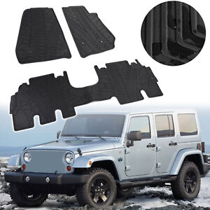 3d Slush Floor Mats Liner For 2014 2018 Wrangler Jk Jku 4 Door Unlimited Usa