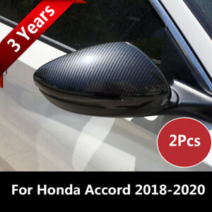 1 Pair Carbon Fiber Style Rear View Mirror Cover Trim For Honda Accord 2018 2020