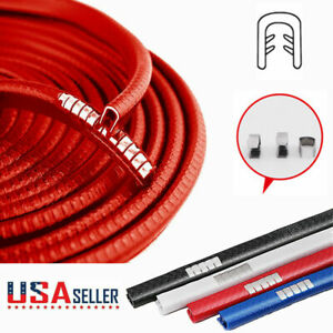 10 Feet Red Car Door Trim Strip Edge Auto Guard Moulding Rubber Seal Protector