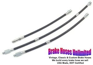 Brake Hose Set Oldsmobile Toronado 1966 1967 1968 Front Drum