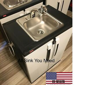 Portable Sink Mobile Handwash Self Contained Hot Cold Water Concession