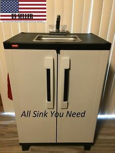 Portable Sink Nsf Mobile Handwash Sink Self Contained Hot Water Concession