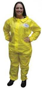 Enviroguard 7013ys xl Collared Chemical Resistant Coveralls Xl Yellow