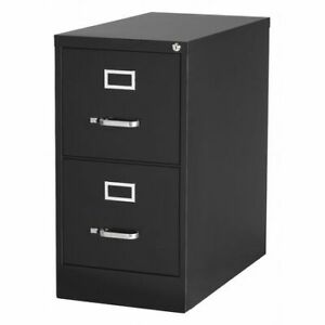 Hirsh 14410 15 W 2 Drawer File Cabinet Black Letter