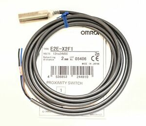 Omron Proximity Switch E2e x2f1 With 2 Meter Cable 2mm Distance 12 To 24vdc