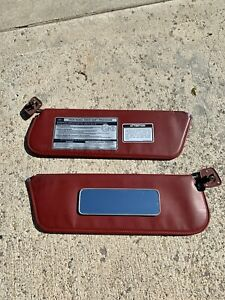1980 1986 Ford Truck bronco Red Sun Visor Set With Mirror