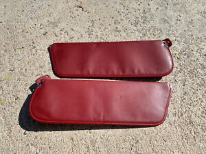 1980 1986 Ford Truck bronco Red Sun Visor Set