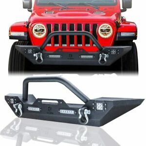 Vijay Front Bumper Fit 07 20 Jeep Wrangler Jl Jk 20 Gladiator With Winch Plate