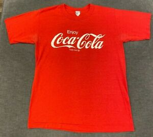 Vintage COCA-COLA T-Shirt MEN'S SMALL S Single-Stitch Soft Thin 80s Enjoy Coke