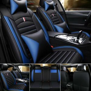 Universal Top Pu Leather Car Seat Covers 5 Seat Set Full Accessories Interior Us