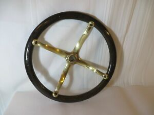 Model T Ford Brass Steering Wheel Spider With Finished Wood Rim